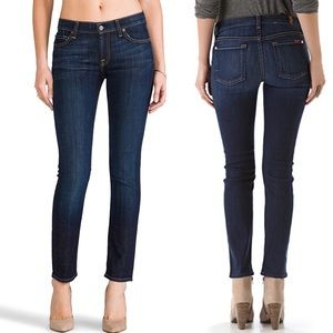 7 for all mankind | The slim cigarette blue jeans